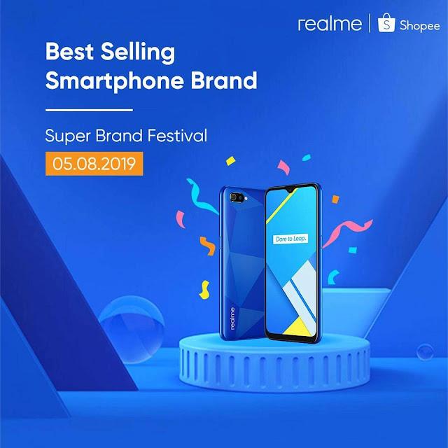 Realme C2 Menjadi Pilihan Sewaktu Jualan Shopee Brands Festival