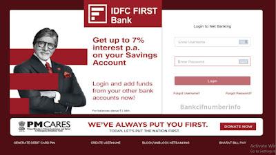 IDFC Bank cheque book request online