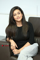 Telugu Actress Mishti Chakraborty Latest Pos in Black Top at Smile Pictures Production No 1 Movie Opening  0185.JPG