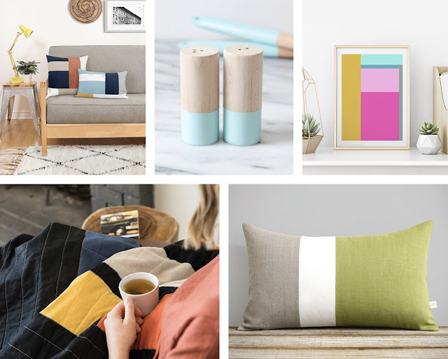 color block trend from etsy