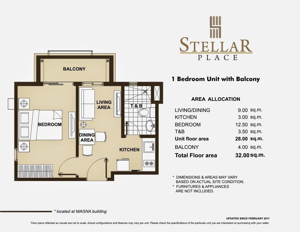 Stellar Place 1-Bedroom Unit 32.50 sqm
