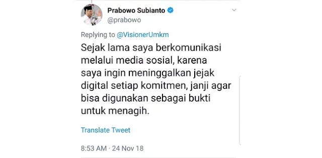 Ketika Prabowo Berinteraksi dengan Warganet, Inilah yang Terjadi
