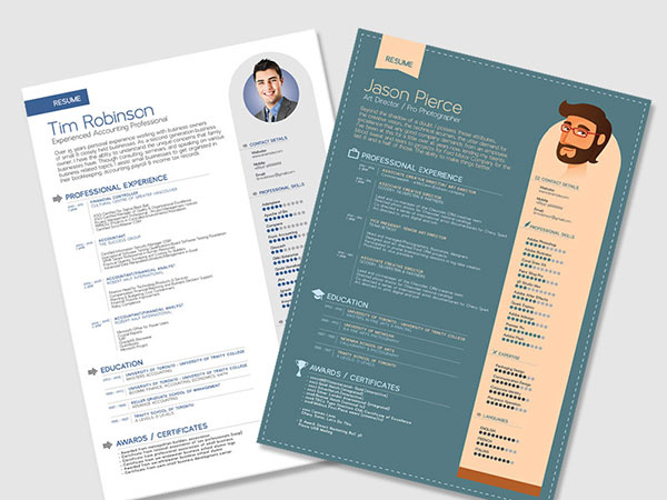 Simple Free Resume Templates In Vector Format