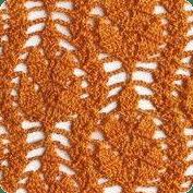 Punto hojas a Crochet