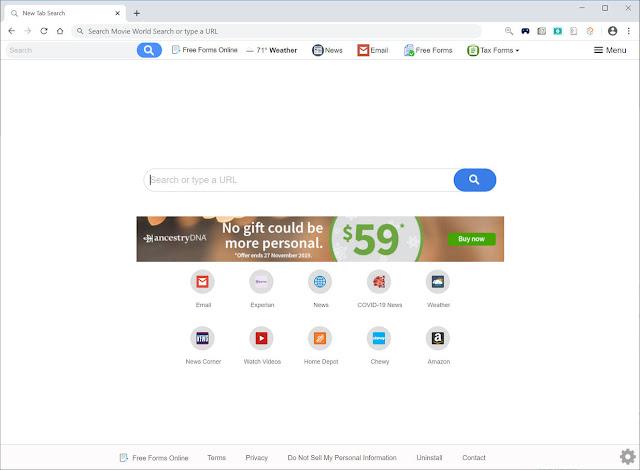 Search.hfreeforms.online (Hijacker)