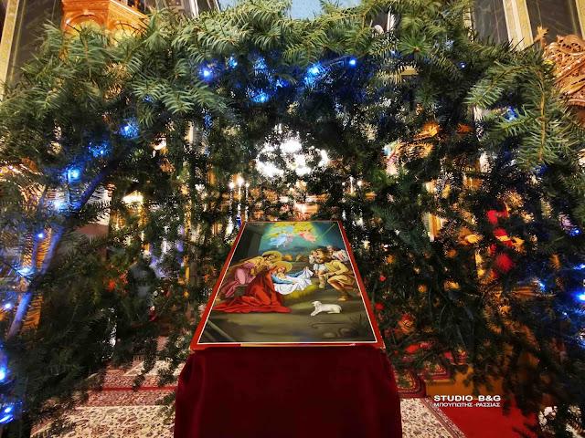 Αρχιερατικός Εσπερινός των Χριστουγέννων στον Καθεδρικό Ι.Ν Αγίου Πέτρου στο Άργος (βίντεο)