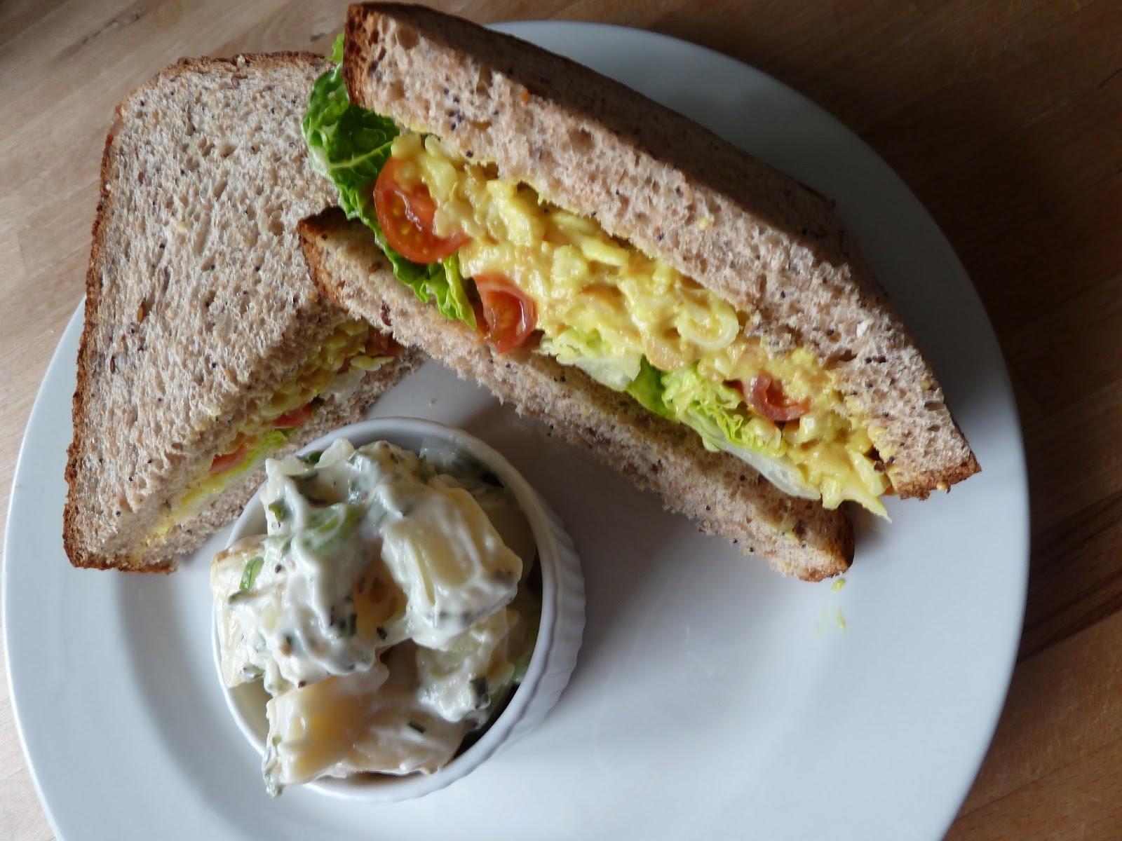 Flicking the vs badger 39 s new vegan readymade egg mayo for Granny pottymouth bakes a vegan cake