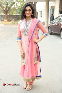 Actress Vimala Raman Stills in Beautiful Pink Salwar Kameez at (ONV) Om Namo Venkatesaya Press Meet  0243.JPG