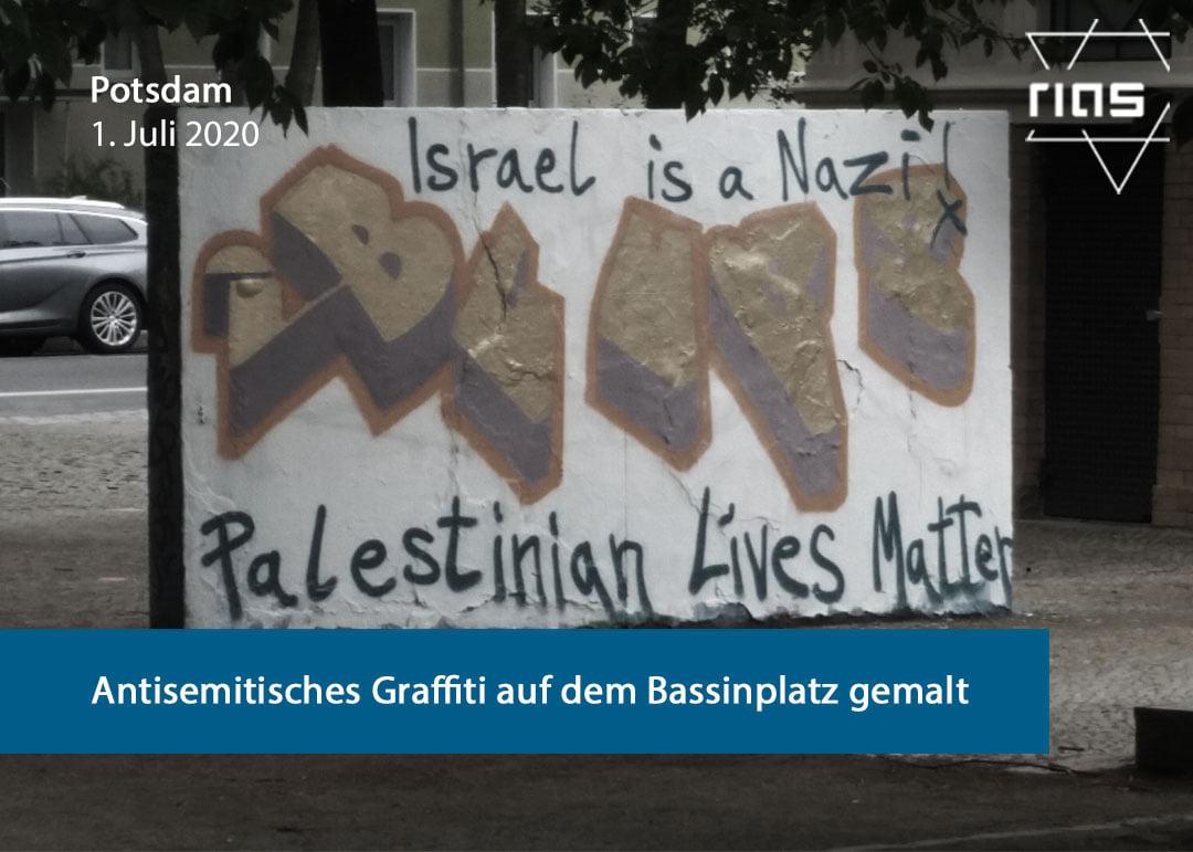 Antisemitic Graffiti Painted On Bassinplatz In Potsdam