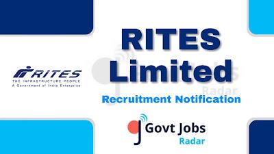 RITES Recruitment Notification 2019, RITES Recruitment 2019 Latest, govt jobs in India, central govt jobs, latest RITES Recruitment Notification update