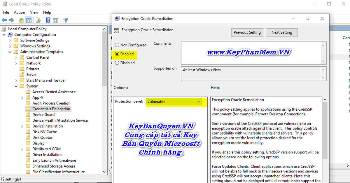 Hướng dẫn sửa lỗi An authentication error has occurred khi dùng Remote Desktop.