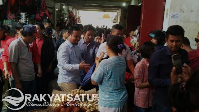 Sudirman Blusukan di Pasar Makale, Warga : Inimi Orang Toraja yang Layak Jadi Pemimpin