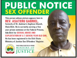 Ekiti begins naming, shaming of sexual offenders