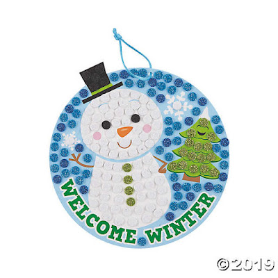 Glitter Snowman Craft Kit for your winter Girl Scout meeting