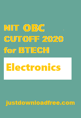 NITs ECE OBC CUTOFF 2020 for BTECH (ROUND 6 RANK WISE)