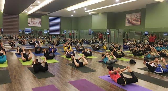 Phòng Yoga rộng rãi giúp cư dân rèn luyện sức khỏe