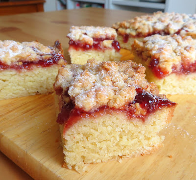 Small Batch Jam Crumble Bars