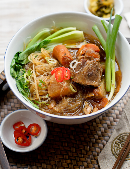 Glass Noodles in Oxtail Stew