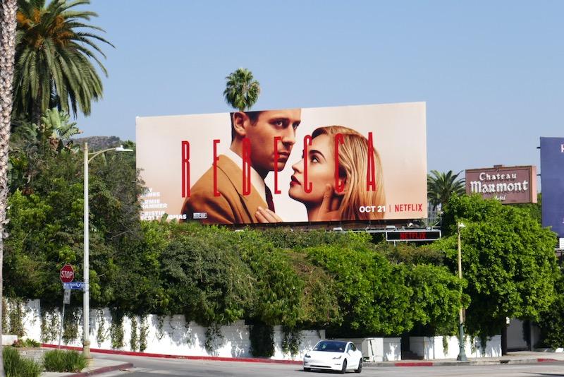 Rebecca 2020 movie billboard