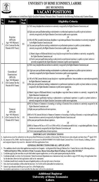 university-of-home-economics-uhe-lahore-jobs-2021-application-form-via-www-uhe-edu-pk