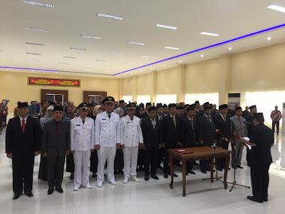 Herman HN Lantik Eselon ll dan lll di Lingkungan Pemkot Bandar Lampung
