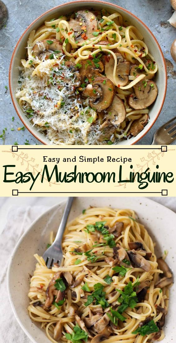 Easy Mushroom Linguine #dinnerrecipe #food #amazingrecipe #easyrecipe