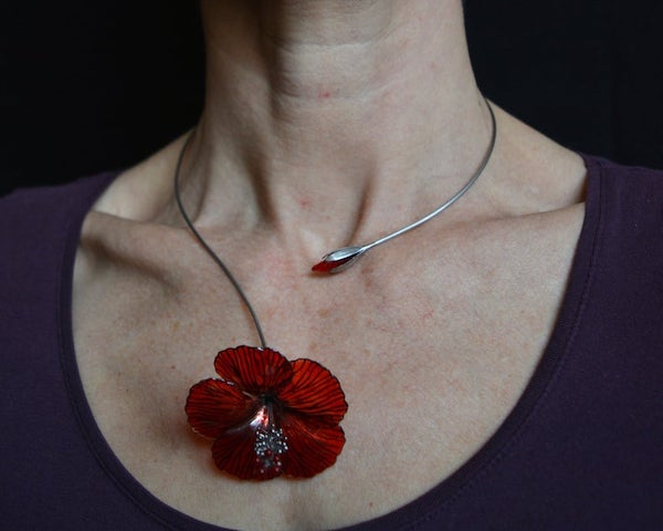 recycled%2BPET%2Bbottle%2Bjewelry%2B%2Bhibiscus%2Bnecklace