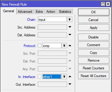 settingan tab general firewall logging mikrotik