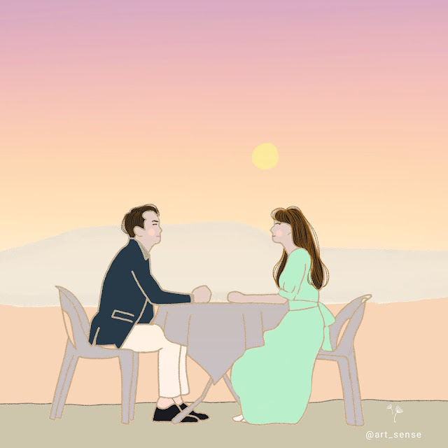 Dinner mate, song seung heon, seo ji hye, fan art, review drama korea dinner mate