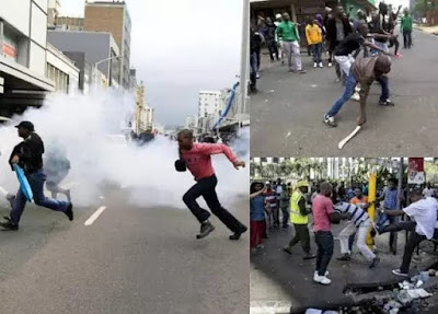 Xenophobia: Nigerians Fight Back With Guns In South Africa