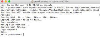 Copy Installer macOS Sierra ke Flashdisk di El Capitan dengan Terminal