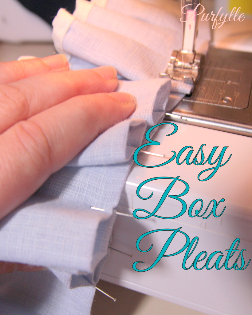 Easy Box Pleats