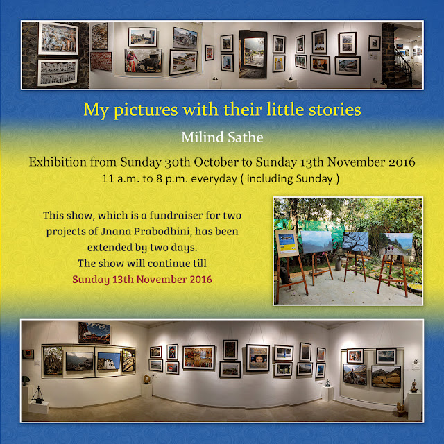 Milind Sathe's photography show at Indiaart Gallery, Pune has been extended by two days