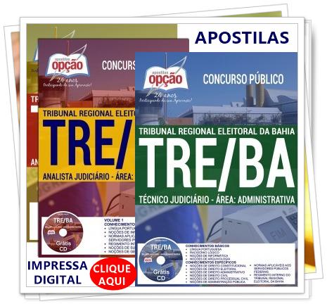 apostilas TRT BA processo seletivo 2018