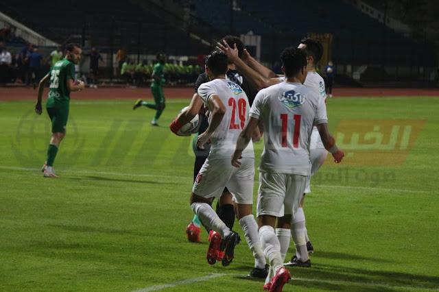 الزمالك يهزم المصري بثلاثية ويحلق في صدارة الدوري