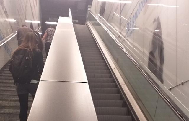 Le scale mobili delle stazioni di Roma