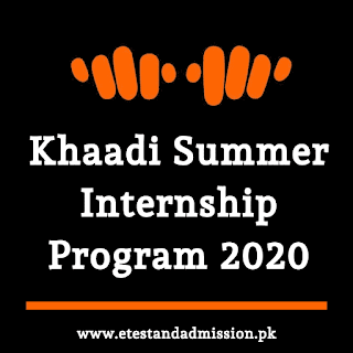 Khaadi Summer Internship Program 2020