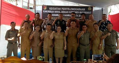 Bangun Sinergitas Dan Soliditas Koramil 1302-14/Amurang Rangkul Stakeholder Dan Komponen Masyarakat