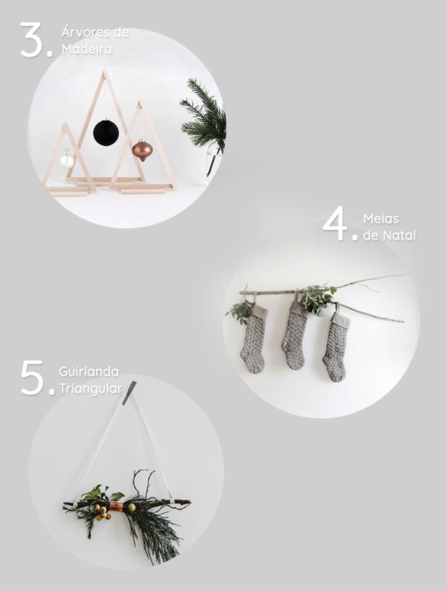decoração de natal minimalista