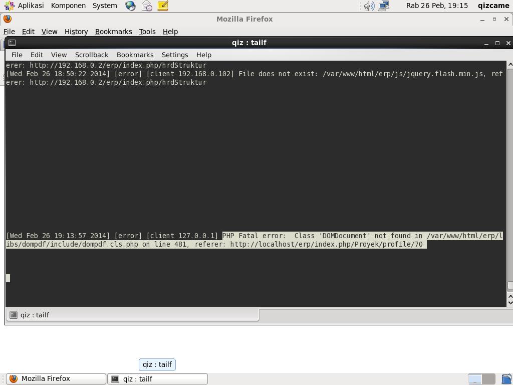 Cara Mendeteksi sintak error PHP yang tidak di ketahui di linux