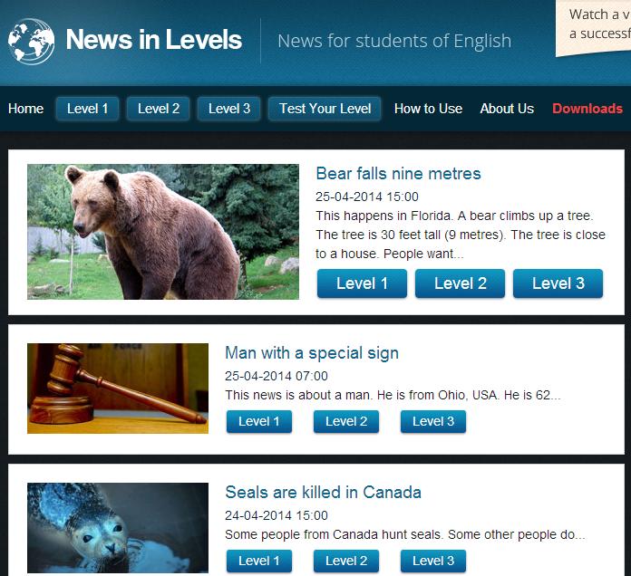 http://www.newsinlevels.com/