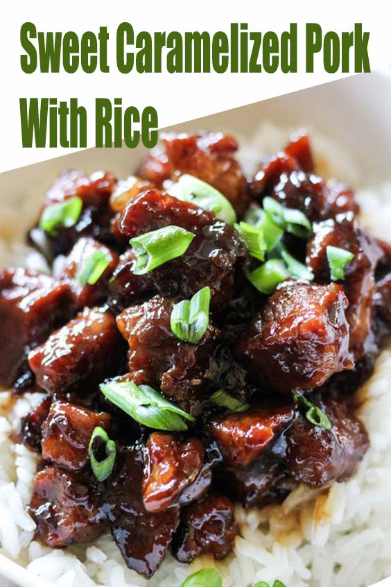 Sweet Caramelized Pork With Rice