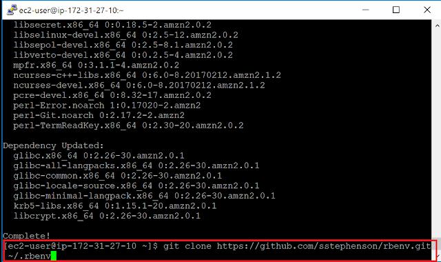 Amazon Linux 2 Gitリポジトリのクローン