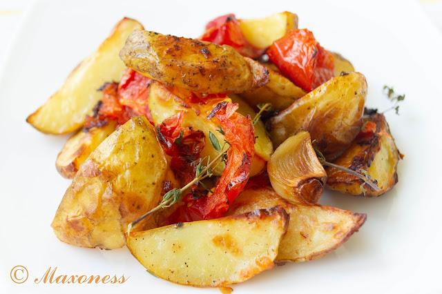 Картофель, запеченный с помидорами, от Алена Дюкасса