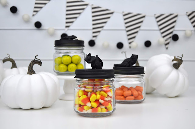 Halloween Candy Jar Topper Tutorial by Jen Gallacher. #halloween #halloweencraft #jartopper