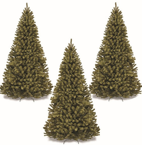 Christmas Decoration Spruce-Hinged Trees: Festive December Season Holiday Tree with Collapsible Base and Stand