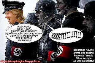 Viñeta Humor Esperanza Aguirre-Nazis por Paco Herrera