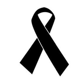 Skin Cancer Black Ribbon Color