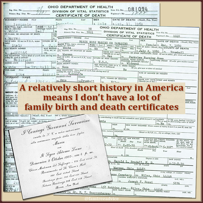 Whatever paper genealogy documents you have, digitize them!