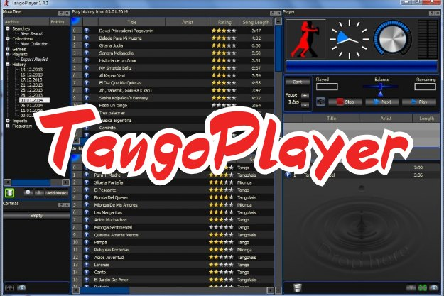 TangoPlayer - Ένα δωρεάν φορητό πρόγραμμα για αναπαραγωγή μουσικής και DJing